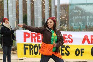 Sarra Tekola @ Human Rights Day Action